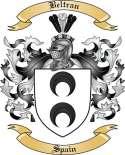 Beltran Family Crest from Spain