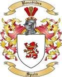 Benavides Family Crest from Spain