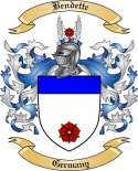 Bendette Family Crest from Germany