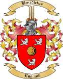 Benedictus Family Crest from England