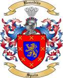 Benedito Family Crest from Spain