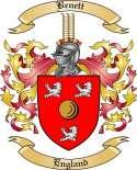 Benett Family Crest from England