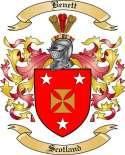 Benett Family Crest from Scotland