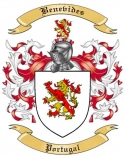 Benevides Family Crest from Portugal