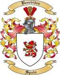 Benevides Family Crest from Spain