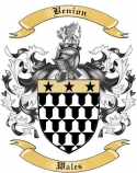 Benion Family Crest from Wales