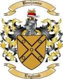 Benjamen Family Crest from England