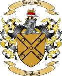 Benjamin Family Crest from England