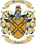 Benjamine Family Crest from England