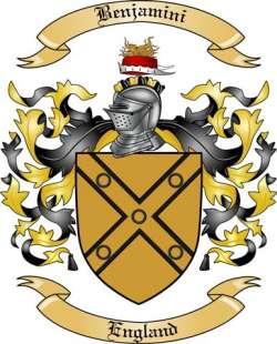 Benjamini Family Crest from England