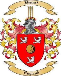 Bennet Family Crest from England