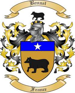 Bennet Family Crest from France