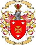 Bennet Family Crest from Scotland
