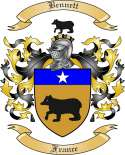 Bennett Family Coat of Arms from France