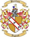 Bennison Family Crest from England