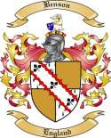 Benson Family Crest from England