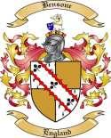 Bensone Family Crest from England