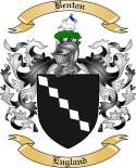 Benton Family Crest from England
