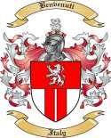 Benvenuti Family Crest from Italy