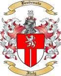 Benvenuto Family Crest from Italy