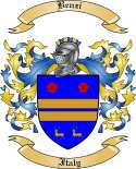 Benzi Family Crest from Italy