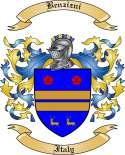 Benzizni Family Crest from Italy