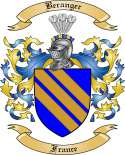 Beranger Family Crest from France