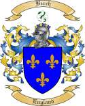 Berch Family Crest from England
