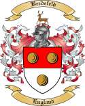 Berdefeld Family Crest from England