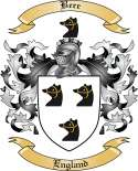 Bere Family Crest from England