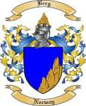 Berg Family Crest from Norway