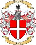 Bergandi Family Crest from Italy