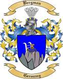 Bergman Family Crest from Germany2
