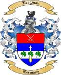 Bergman Family Crest from Germany