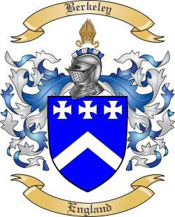 Berkeley Family Crest from England by The Tree Maker