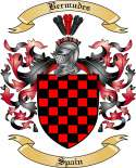 Bermudes Family Crest from Spain2