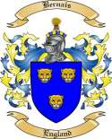 Bernais Family Crest from England