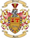 Bernal Family Crest from Spain