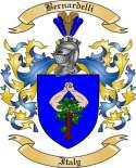 Bernardelli Family Crest from Italy