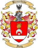 Bernardetto Family Crest from Italy