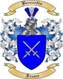Bernardin Family Crest from France