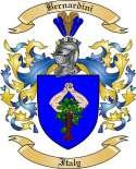 Bernardini Family Crest from Italy