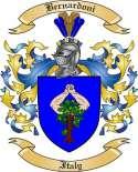 Bernardoni Family Crest from Italy
