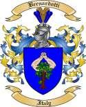Bernardotti Family Crest from Italy