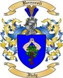 Bernaroli Family Crest from Italy