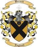 Bernett Family Crest from England