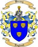 Berney Family Crest from England