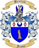 Berniard Family Crest from France
