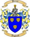 Bernie Family Crest from England