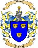 Berny Family Crest from England